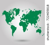 green world map | Shutterstock .eps vector #722405818