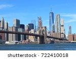 brooklyn bridge new york city... | Shutterstock . vector #722410018