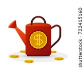 investment vector concept with... | Shutterstock .eps vector #722415160
