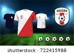 football uniform and logo  as... | Shutterstock .eps vector #722415988
