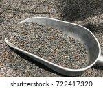 black sesame seeds on a spoon | Shutterstock . vector #722417320