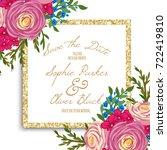 wedding invitation card suite...   Shutterstock .eps vector #722419810