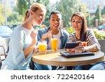 best friends taking a selfie in ... | Shutterstock . vector #722420164