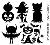 halloween set. | Shutterstock .eps vector #722422090