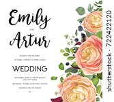wedding invitation  invite card ... | Shutterstock .eps vector #722422120