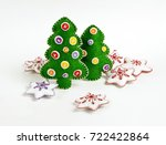 handmade christmas trees and... | Shutterstock . vector #722422864