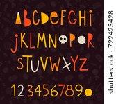 set of colorful cartoonish... | Shutterstock .eps vector #722423428