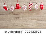 hanging christmas and new year... | Shutterstock . vector #722423926