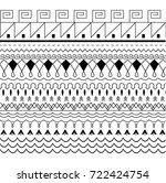 a pattern with different black... | Shutterstock .eps vector #722424754