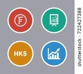 business icons set | Shutterstock .eps vector #722427388