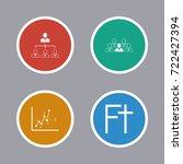 business icons set | Shutterstock .eps vector #722427394
