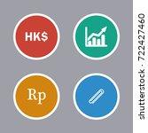 business icons set | Shutterstock .eps vector #722427460