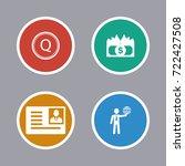 business icons set | Shutterstock .eps vector #722427508