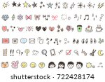 a collection of icons... | Shutterstock .eps vector #722428174