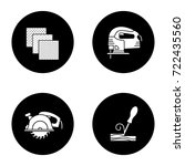 construction tools glyph icons... | Shutterstock .eps vector #722435560