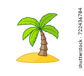 island with a palm tree.... | Shutterstock .eps vector #722436784