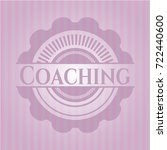 coaching pink emblem. retro | Shutterstock .eps vector #722440600