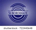 subordinate with denim texture | Shutterstock .eps vector #722440648