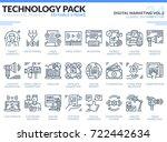digital marketing icons set.... | Shutterstock .eps vector #722442634