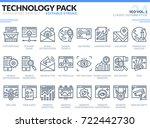 seo icons set. editable stroke. ... | Shutterstock .eps vector #722442730