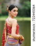 Thai Model Portrait Red Dress...