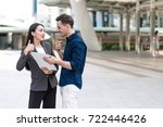 sale woman trying to sell...   Shutterstock . vector #722446426