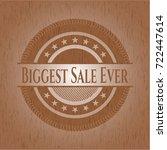 biggest sale ever retro wooden... | Shutterstock .eps vector #722447614
