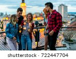 party at the roof | Shutterstock . vector #722447704