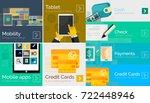 flat modern banners  vector... | Shutterstock .eps vector #722448946
