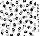 cat trace pattern background ... | Shutterstock .eps vector #722451568