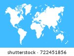 blue world map | Shutterstock .eps vector #722451856