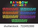 rainbow font in the cartoon... | Shutterstock .eps vector #722452300