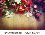 christmas or new year background | Shutterstock . vector #722456794