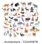 animal full length portraits... | Shutterstock . vector #722459878