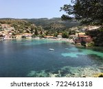 the assos village with its... | Shutterstock . vector #722461318