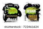 set frame for text and labels.... | Shutterstock .eps vector #722461624