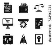 bureaucracy icons set. simple...   Shutterstock .eps vector #722461786