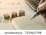 doing finances and calculate on ... | Shutterstock . vector #722461798
