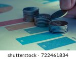 doing finances and calculate on ... | Shutterstock . vector #722461834
