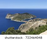 the peninsula of assos with the ... | Shutterstock . vector #722464048