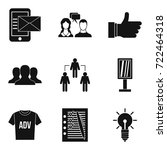 business strategy icons set.... | Shutterstock .eps vector #722464318