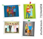 family photos with special day... | Shutterstock . vector #722464858