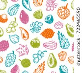 pattern with vector exotic... | Shutterstock .eps vector #722465590