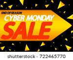 cyber monday sale  end of... | Shutterstock .eps vector #722465770