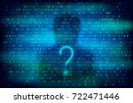 anonymous silhouette with... | Shutterstock .eps vector #722471446