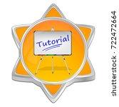 tutorial button   3d... | Shutterstock . vector #722472664