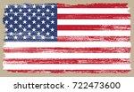 grunge american flag.vector... | Shutterstock .eps vector #722473600