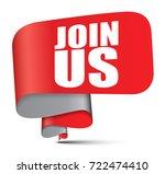 banner join us   Shutterstock .eps vector #722474410