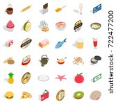 chocolate icons set. isometric... | Shutterstock .eps vector #722477200