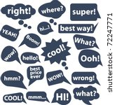 20 chat   thought signs. vector | Shutterstock .eps vector #72247771